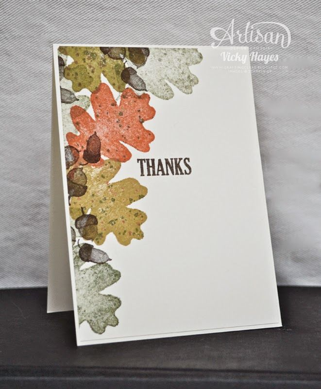 Stampin' Up ideas and supplies from Vicky at Crafting Clare's Paper Moments: For All Things - Stampin' Up Artisan blog hop