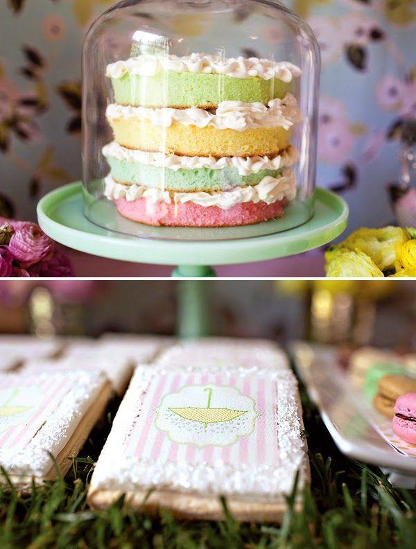 Blog Achados de Decoração: naked cake colorido