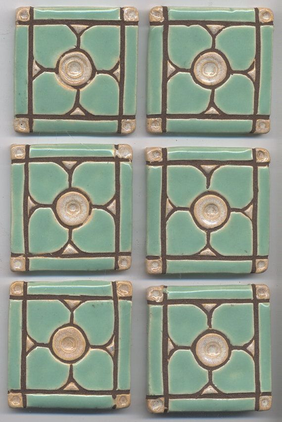 Handmade Decroative  Ceramic Tiles Dogwood by HouseofWhisperingFir, $12.00