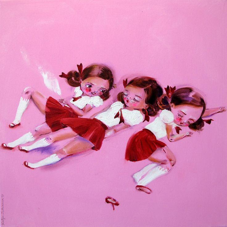 Sweet Dreams, oil on canvas, 60 x 60 cm, Katja Tukiainen 2013