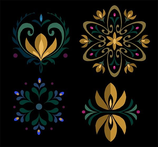 Norwegian Rosemaling Stencils | All images are property of Walt Disney Animation Studios.