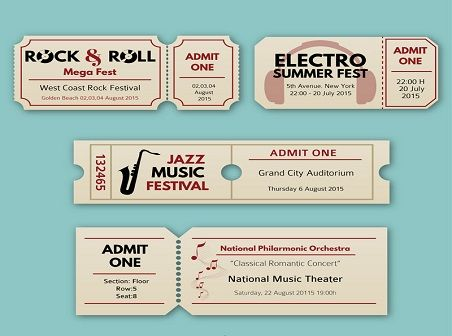 The 25+ best Concert ticket template ideas on Pinterest Concert - concert ticket birthday invitations