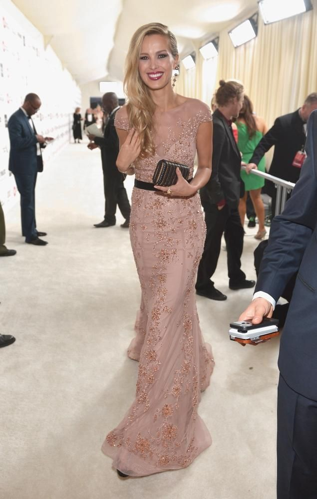Petra Nemcova at Elton John's AIDS fund-raising party for the Oscars.