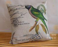 Pays d'amérique Parrot taie d'oreiller, oiseau housse de coussin, linge taie d'oreiller bureau oreillers maison decoratvie canapé coussins