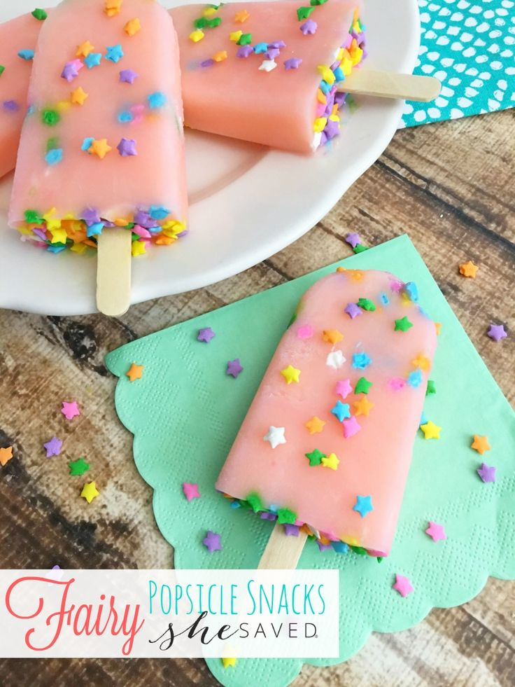 If you are looking for easy homemade treat ideas, these Fairy Popsicle snacks are always hit with the kids, great for birthday parties too!