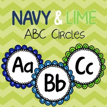 Seriously, what CAN'T you use these adorable ABC circles for?I created these alphabet circles to use for my Word Wall and matched the colors to my Navy and Lime classroom color scheme.Simply print out on cardstock, cut, and VOILA! - - - - - - - - - - - - -- - - - - - - - - - - - - - - - - - - - - - - - - - - - - - - - - - - - -Would you like the circles in another color scheme?