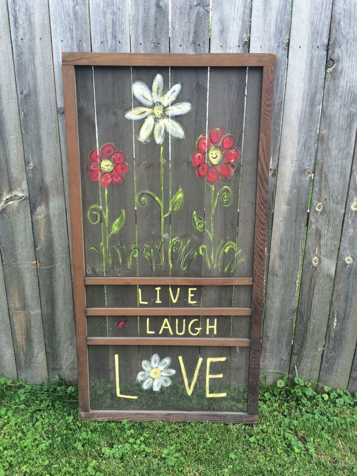 Painted screen door