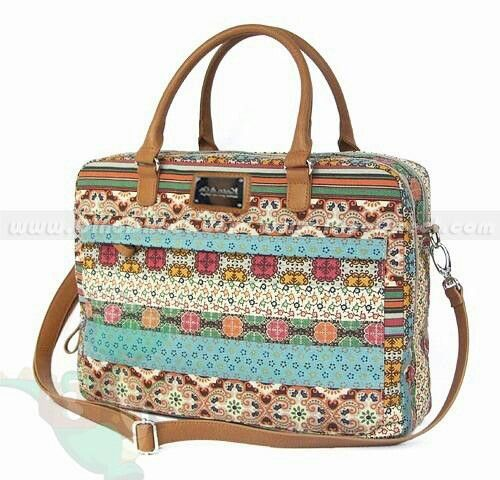 Colorful Bohemian Strip Flower Canvas Pvc Women Laptop Bag For 14inch 12inch Bags Bagore In 2018 Pinterest And L