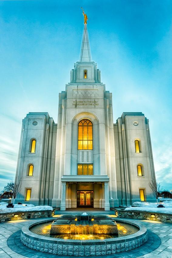 """The Still Waters Flow"" Brigham City LDS Temple. #Mormon #Photog #Art #HomeDecor"