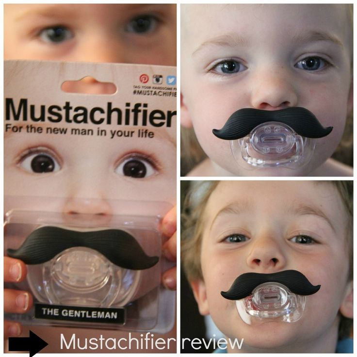 Mustachifier review...super cute baby gift!  Too funny!  Too bad 'lil man will only use a soothie!!!