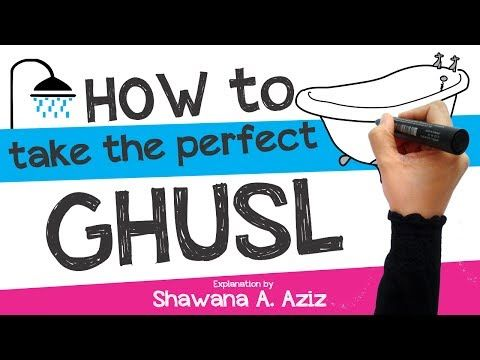 How to take Ghusl (Complete Ritual bath in Islam) Sunnah Acts | Shawana A. Aziz