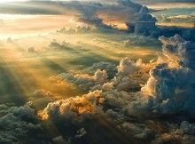 Sunset from above the clouds... spectacular!!