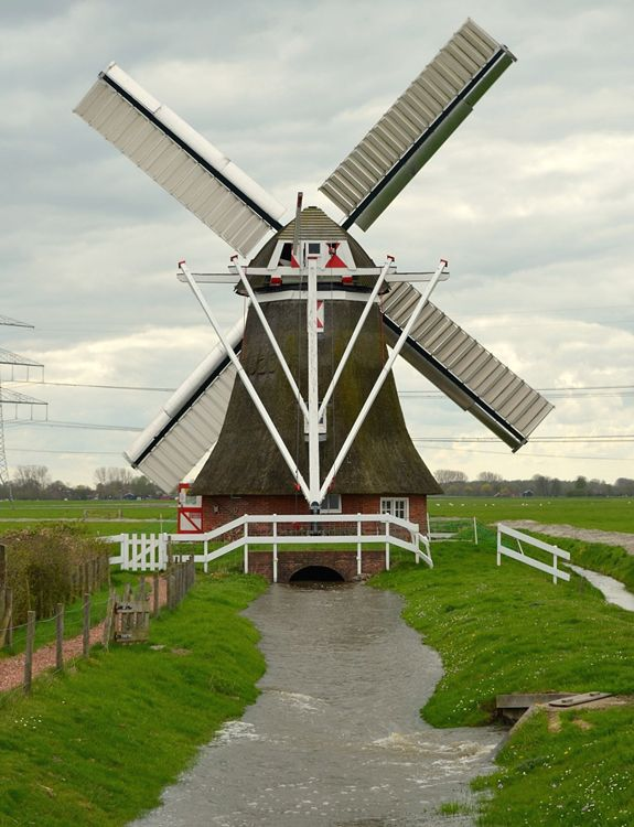 Polder mill De Eolus, Aduard, the Netherlands