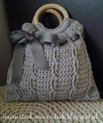 Haakpatroon Meisjes Tasje Haken Pinterest Crochet Yarn Bag En