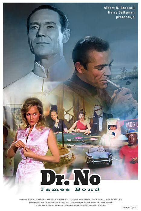JAMES BOND - Dr No - movie poster by P-Lukaszewski.deviantart.com on @DeviantArt
