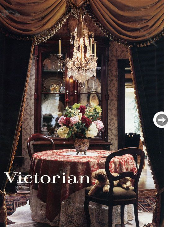1998 victorian inspired dining room walls adorned with arabesque style wallpaper
