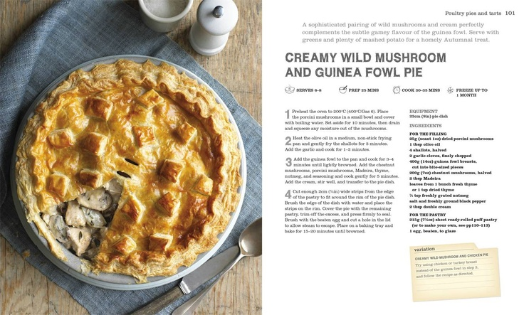 The Pie Book - Creamy wild mushroom and guinea fowl pie