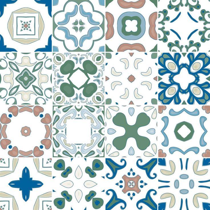 Adesivo de azulejo hidráulico 6007 décoration de la cuisineréfrigérateurs autocollantspapiers