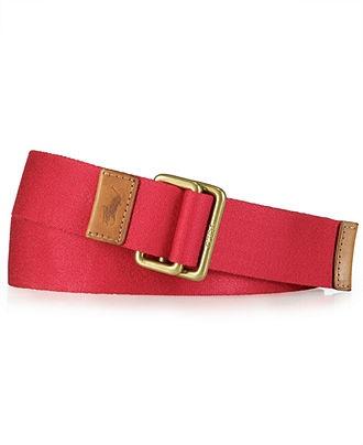 Polo Ralph Lauren Accessories, Solid Cotton Webbed Belt - Men's Belts & Suspenders - Men - Macy's