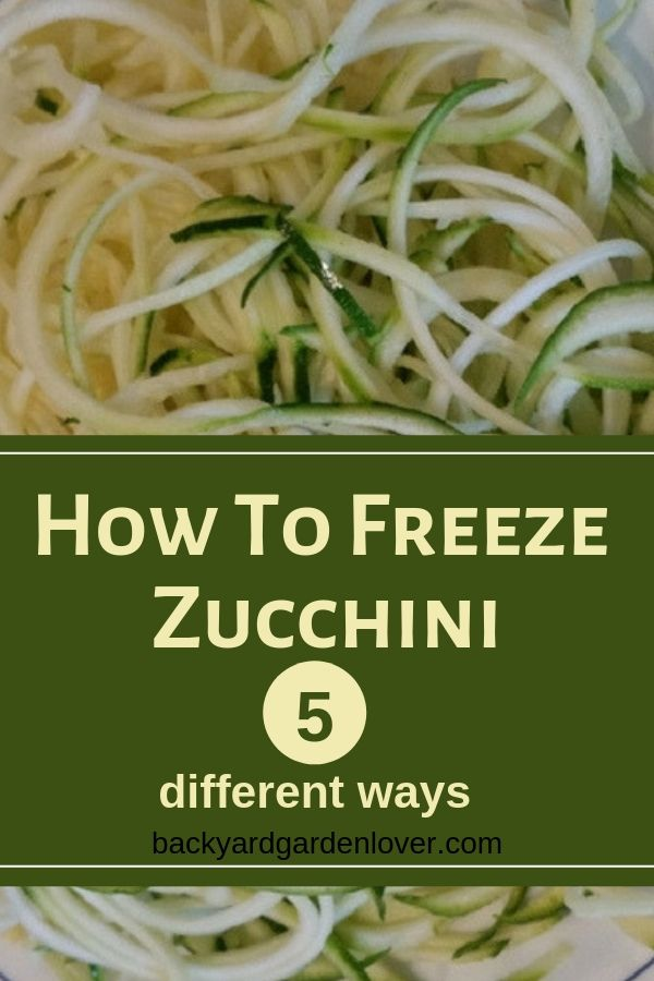 How To Freeze Zucchini 4 Different Ways | ✿ Backyard Garden Lover Blog | Pinterest | Recipes, Zucchini and Vegetables