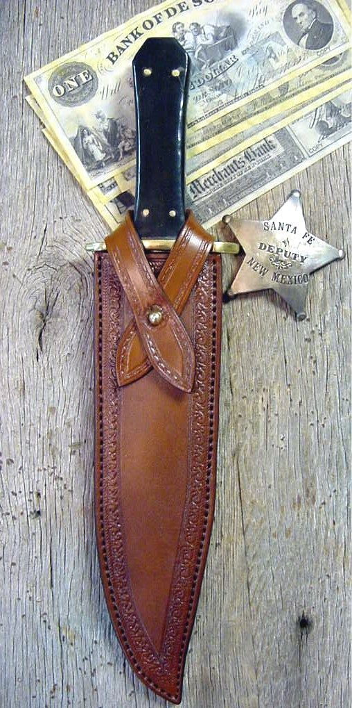 Cowboy Knives, Leather Knife Sheaths, Bowie Knives   Old West Leather, Buckles, Cowboy Holsters, Custom Western Belts