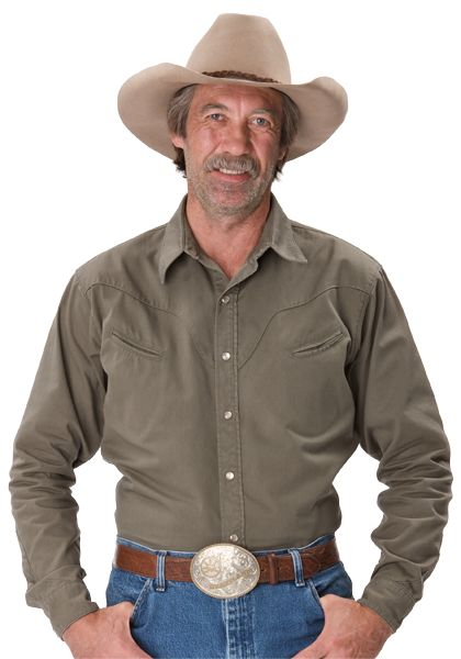 A cowboy with a rodeo belt buckle - Heartland's Jack Bartlett