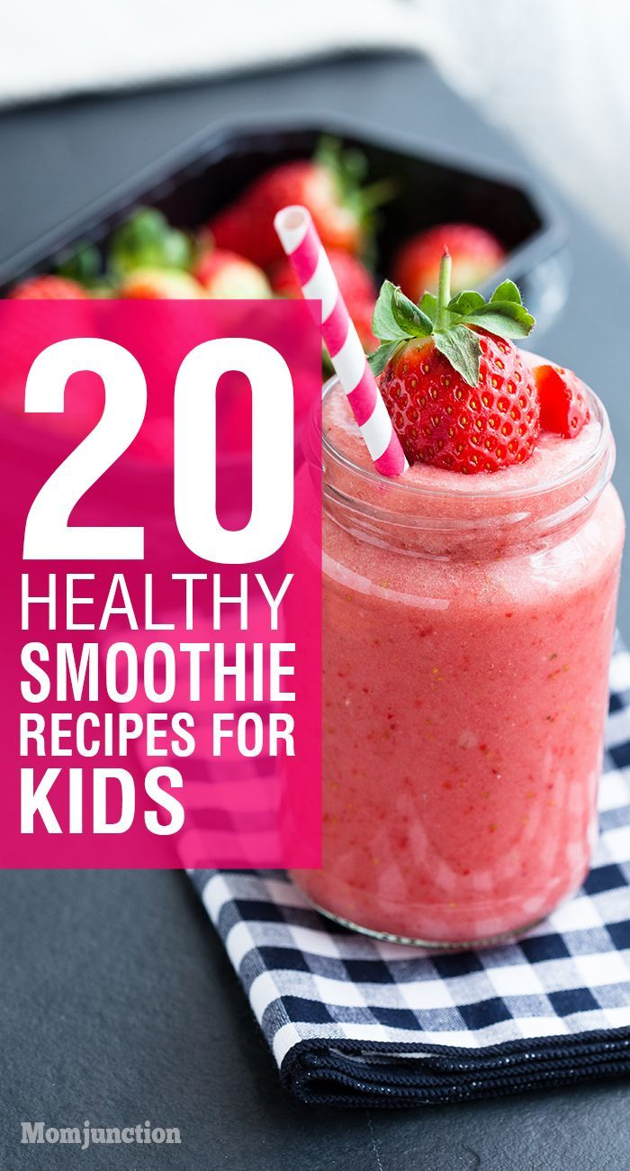 20 Healthy Smoothie Recipes For Kids: Kids are attracted by the colors of smoothies, so your picky eater will not hesitate in having one.Here are some smoothie recipes for kids which you can try.