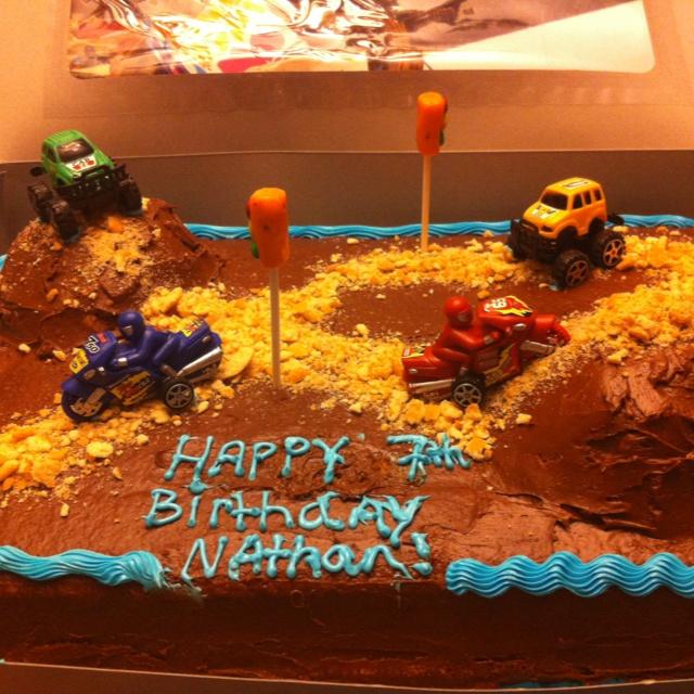 Dirt bike cake!