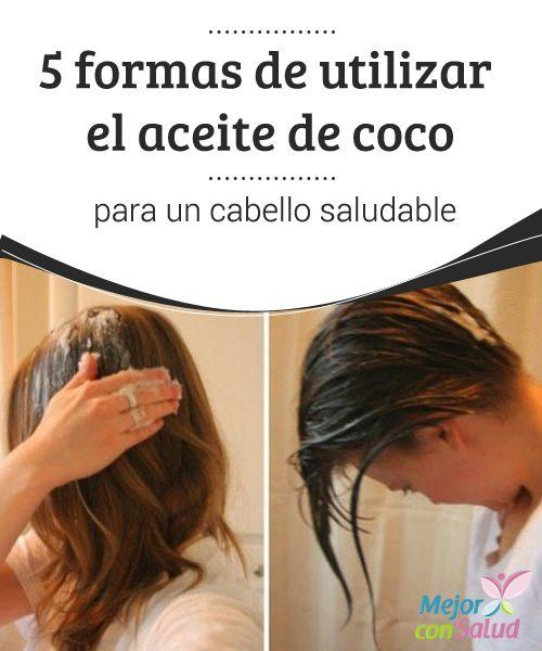Como se usa el aceite de coco en el cabello