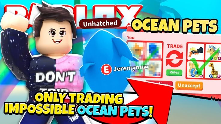 I ONLY Traded IMPOSSIBLE OCEAN PETS in Adopt Me! NEW Adopt