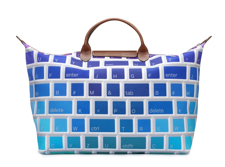 "Le Pliage ""Keyboard"" - Collaboration with Jeremy Scott. Back view. Longchamp Collection FW 2012"