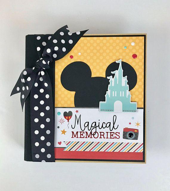 Disney Scrapbook Album Diy Kit Or Premade Vacation Mouse Disney