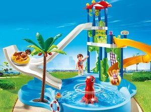 playmobil 6669 parc aquatique avec glissades d 39 eau mai. Black Bedroom Furniture Sets. Home Design Ideas