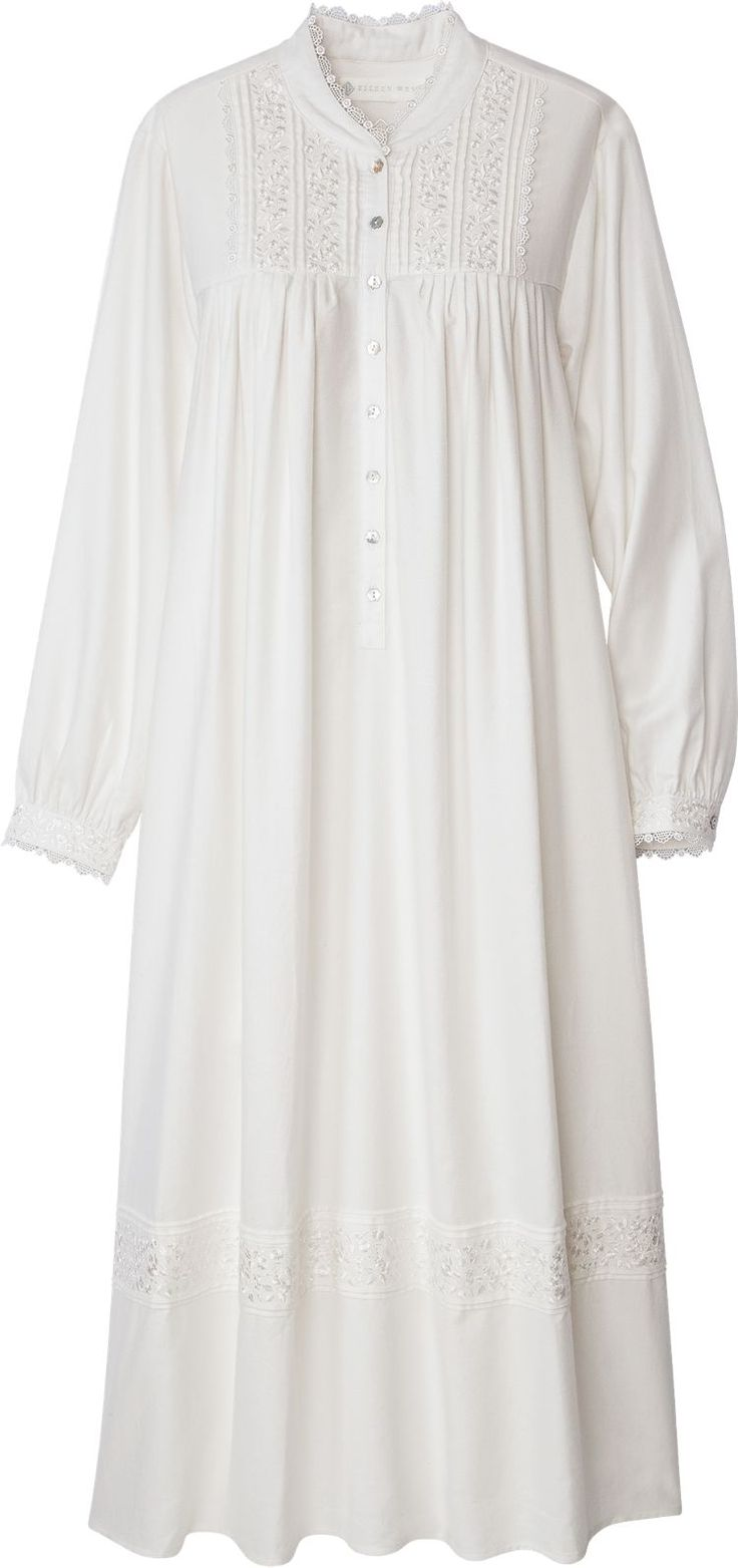 Eileen West Splendor Nightgown: A crown jewel of elegance, this Royal Splendor Nightgown from Eileen West blends the breathability of cotton with the graceful drape of rayon, for a sumptuously soft fit worthy of a queen.