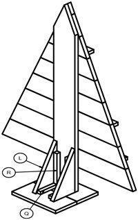 Christmas scaffolding wood surface | GAMMA