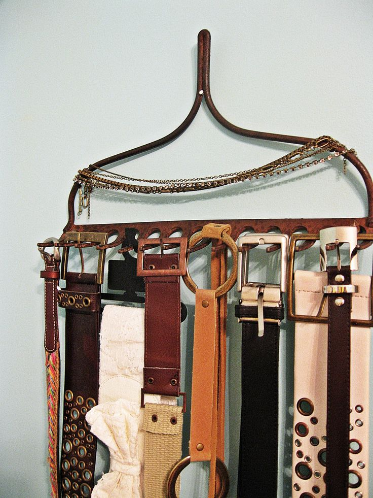 I've seen necklaces on the rake, but I hadn't thought about belts. Scarves would probably work too, then.