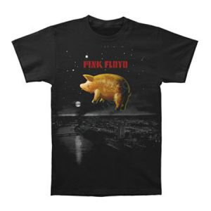Pink Floyd Pig Over London T-Shirt - Remember the famous endings of Pink Floyd's live shows with this Pink Floyd Pig Over London Men's T-Shirt. This pig balloon floating over London will take you back to every Pink Floyd rockin' moment!