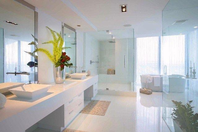 White Tile Bathroom Bing Images Glasses Tile Bathroom Inspiration
