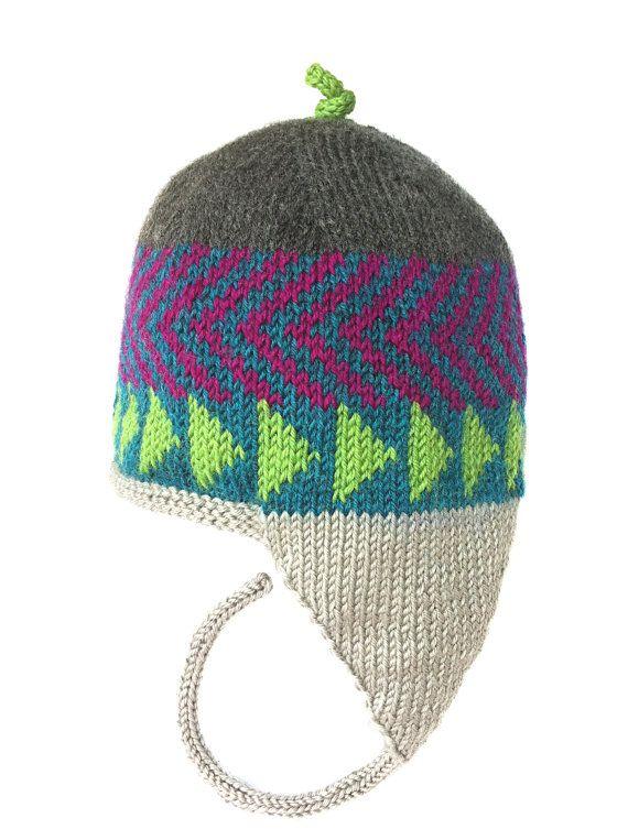 Earflap Hat   Hand Knit Original Icelandic Design by LizSox, $35.00