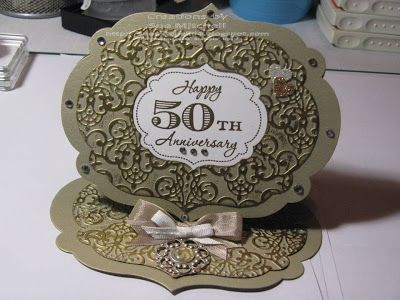 Stampin' Up! Australia - Sue Mitchell: 50th Anniversary Easel Card with Stampin' Up! Memorable Moments