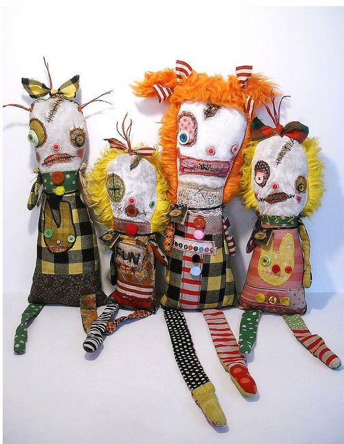 Junker Jane's Monster Dolls - Awesome! mom i love these.. yes they are so cute they are ugly <3 - Kylie Leigh