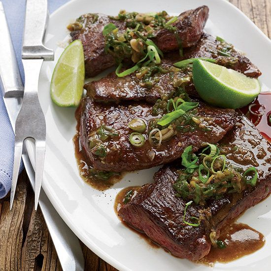 Pan-Seared Steak With Caper-Anchovy Butter Recipe — Dishmaps
