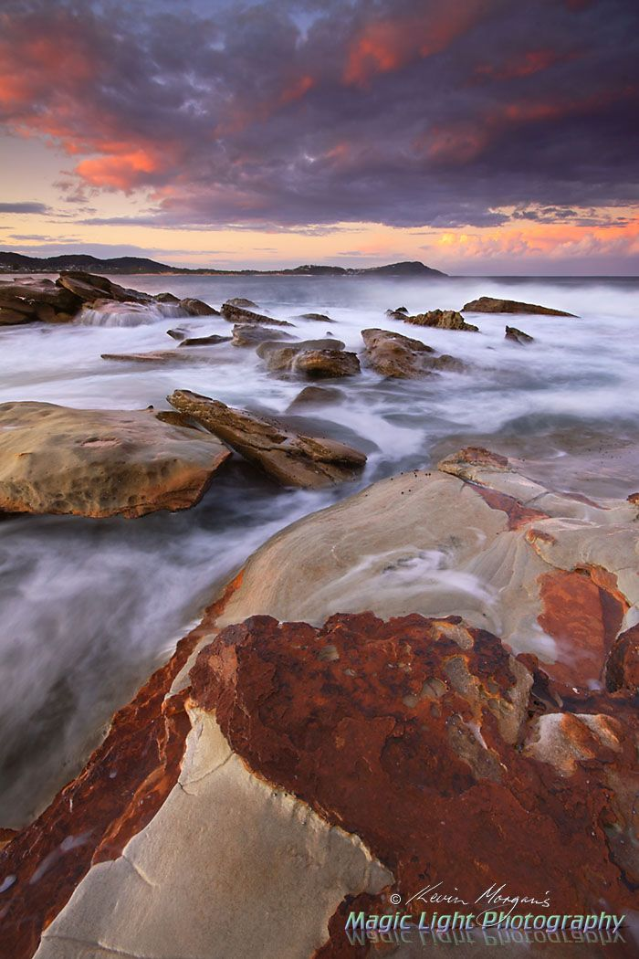 Sunset at Terrigal Haven Rocks
