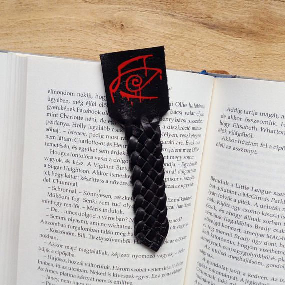 Check out this item in my Etsy shop https://www.etsy.com/listing/511608968/dark-tower-bookmark-stephen-king-leather