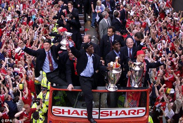 Teddy Sheringham (left), Dwight York (centre) and Andy Cole (right) all moved to Old Traff...