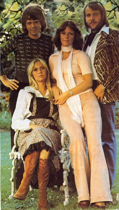 Trousers! I love Frida's style in this photo of ABBA - the trousers are gorgeous, but the top isn't anything particularly fancy - it's the scarf that really turns it into something stylish.