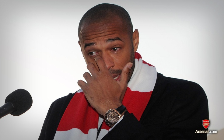 King Thierry Henry at his statue unveiling.