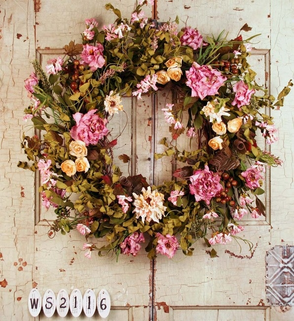 Nice Romantic Garden Summer Door Wreath