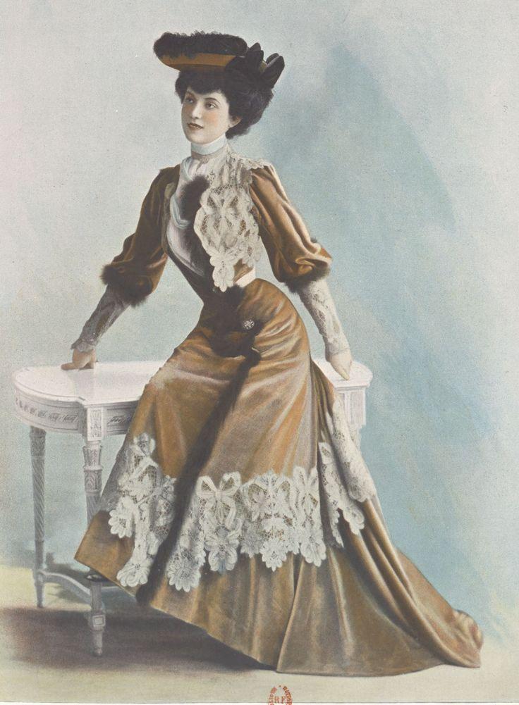 1901, Septembre - Les Modes Paris - Visiting dress by Rouff