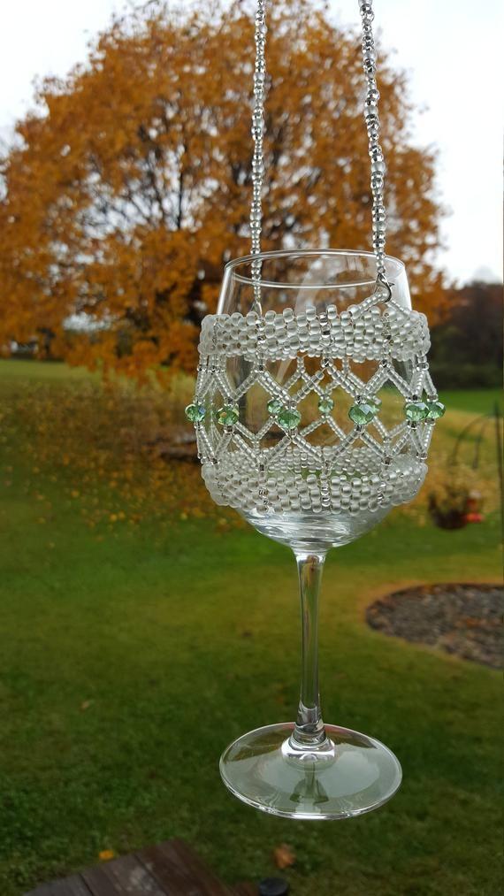 This Beautiful Hand Woven Wine Glass Necklace Can Be Used At